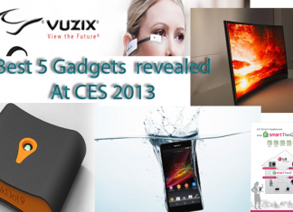 best 5 gadgets revealed at ces 2013
