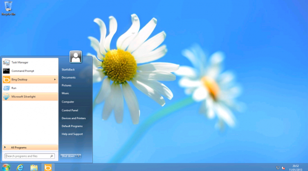 add windows 8 button in windows 8