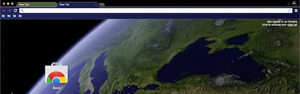 google chrome earth theme